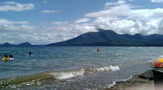 支笏湖でキャンプ3